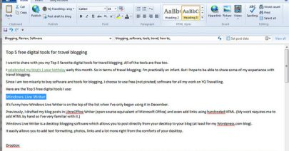 7 Reasons to use Windows Live Writer Over Online Blog Editors